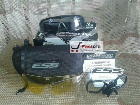 Kaca Mata Ess Crossbow jual kacamata airsoft gun ess crossbow 3 lensa kaca
