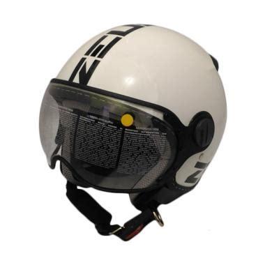Helm Zeus Zs 210 jual zeus zs 210 helm half white dd11 black harga kualitas terjamin blibli