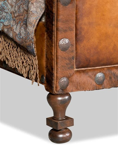 western futon sundance tufted leather western master bed