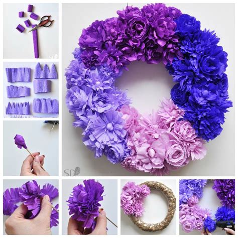 How To Make Ombre Paper - how to make an ombre crepe paper flower wreath pictures