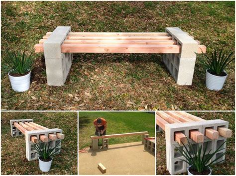 concrete block bench wonderful diy cinder block bench