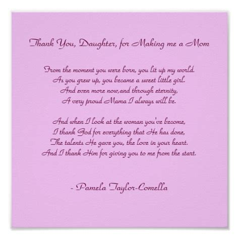 Thank You Note To Daughters Thank You Quotes Quotesgram