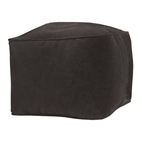 bean bag ottomans bean bag ottoman black m beanbagtown