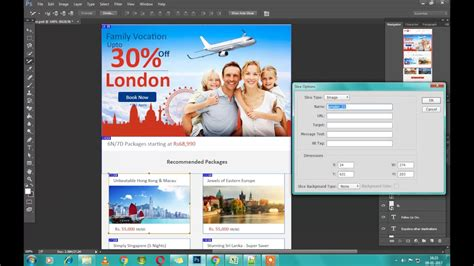 tutorial newsletter photoshop psd to html email slice psd to html in photoshop youtube