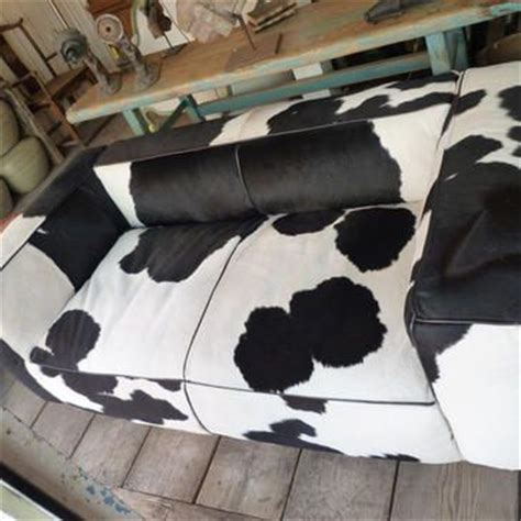 cow couch black and white cow hide couch 4 070 furniture sofa