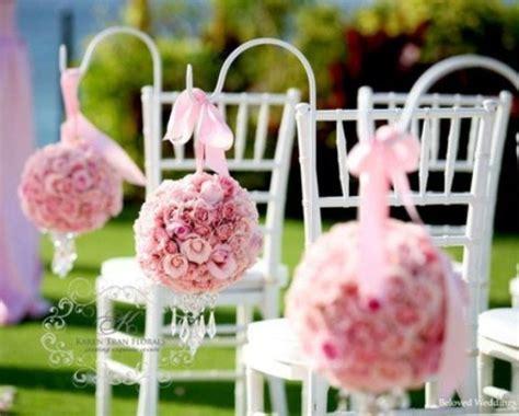 wedding aisle flower balls light pink and silver wedding theme archives weddings