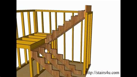 How To Build Interior Stairs With A Landing by How To Build And Frame Stairs Landings U Shaped Stairs
