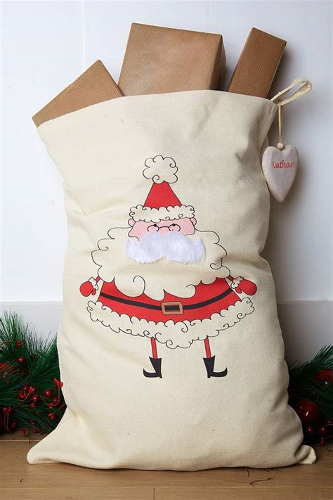 personalised father christmas santa sack by santa sacks