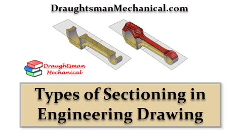 types of sectioning in technical drawing draughtsman mechanical learn mechanical engineering in hindi