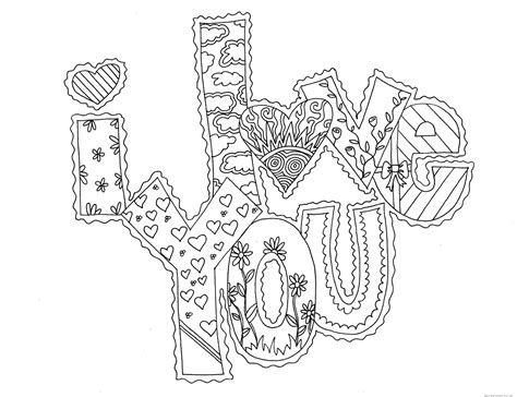 love you coloring pages print printable valentines day i love you card coloring pages