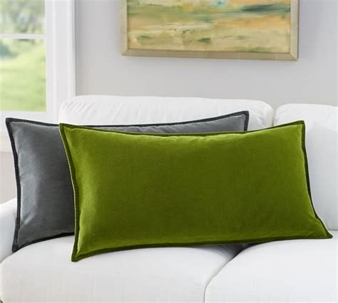 Oversized Pillow Covers by Oversized Washed Velvet Lumbar Pillow Cover Pottery Barn