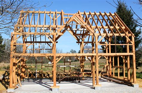 timber framed carriage shed raising hugh lofting timber