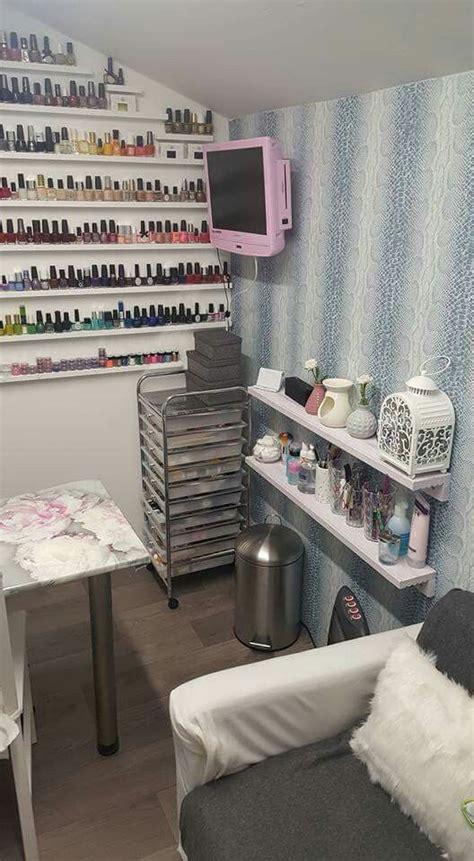 small space nail technician room organization  set