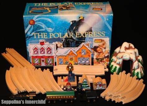 brio polar express wooden train set brio polar express train set box 28pc holiday wooden