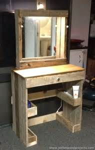 Makeup Vanity Furniture Plans Pallet Dressing Tables With Mirror Pallet Wood Projects