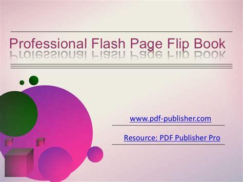 tutorial flash flip book professional flash page flip book
