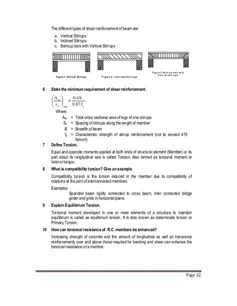 design of rc elements notes ce1302 design of rc elements