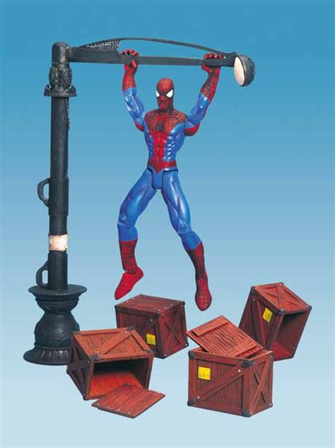 marvel swing marvellegends net spider man series 3 flip and swing