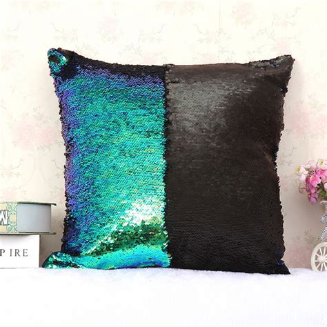 color changing pillow groopdealz color changing sequin pillow cover