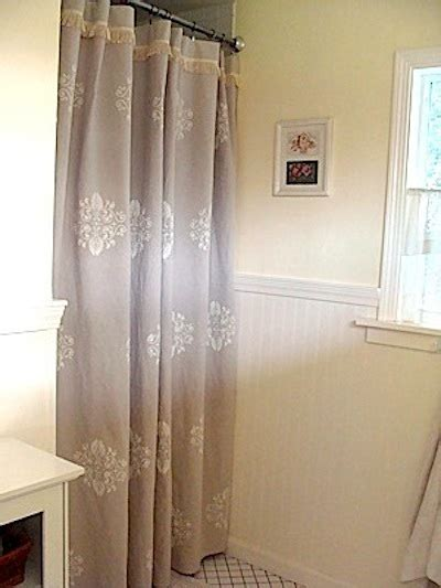 stenciled drop cloth curtains top diy projects from 2012