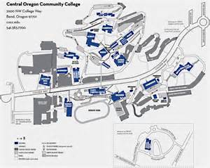 oregon colleges and universities map bend cus map central oregon community college bend