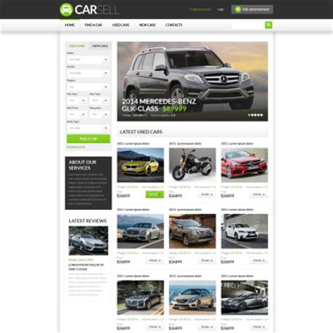 website templates for used cars new used cars website template 38522