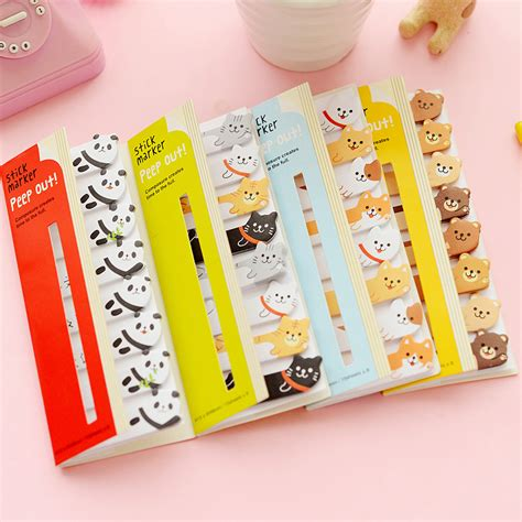 Animal Sticker Stiker Post It new planner stickers notes post it memo pad paper bookmarks korean stationery animal rabbit cat