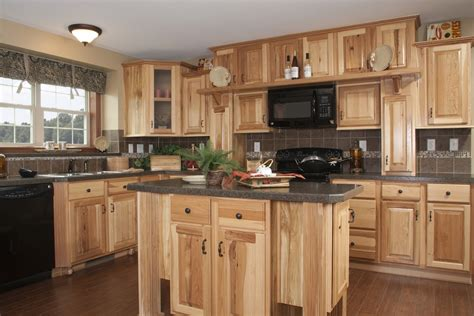 kitchen cabinets hickory kitchen in the manhattan hr137a pennwest ranch modular hickory cabinets large island black