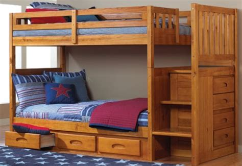 twin bunk bed with desk and drawers video review mission twin over twin staircase bunk bed