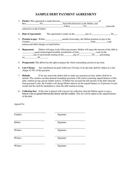 Agreement Letter For Payment Between Two 10 Best Images Of Sle Payment Agreement Sle