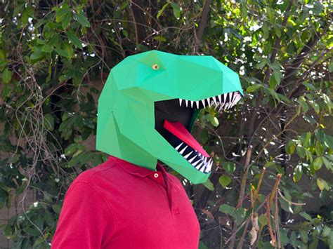 How To Make At Rex Out Of Paper - dinosaur mask make a t rex mask with just paper and glue