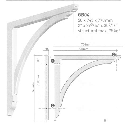 Structural Corbels Large Gallows Bracket