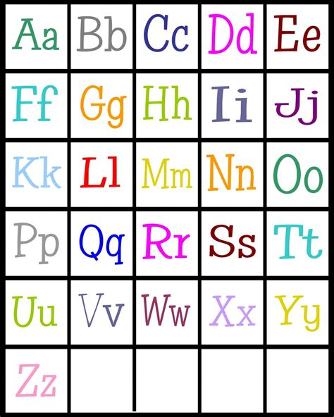 printable list of alphabet letters abc printables worksheets releaseboard free printable