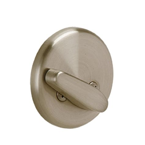 Door Knob Trim Plate by Schlage B81 Single Sided Deadbolt With Thumbturn And