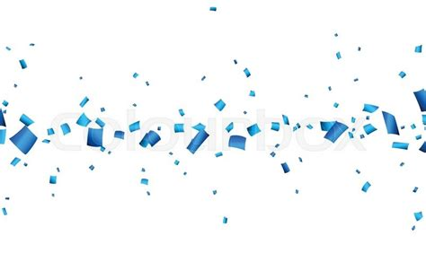 Images Of Birthday Decoration At Home by Celebration Banner With Blue Confetti Vector Background