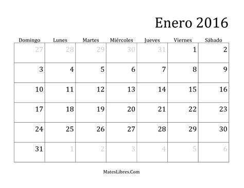 calendario para imprimir 2016 mes por mes calendario mensual del 2016 hoja de ejercicio de tiempo
