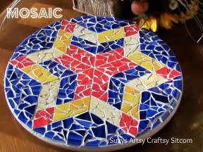 Creating mosaics using glass pieces can be difficult but i found a