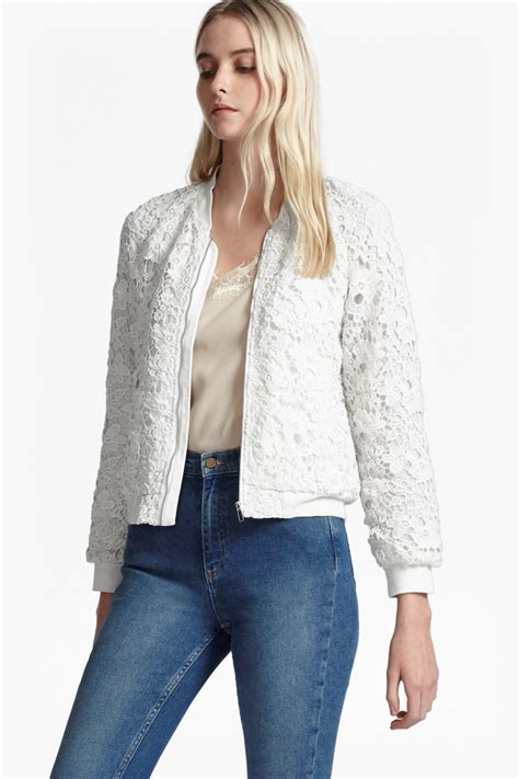 Lace Bomber Jacket lace bomber jacket jackets coats connection