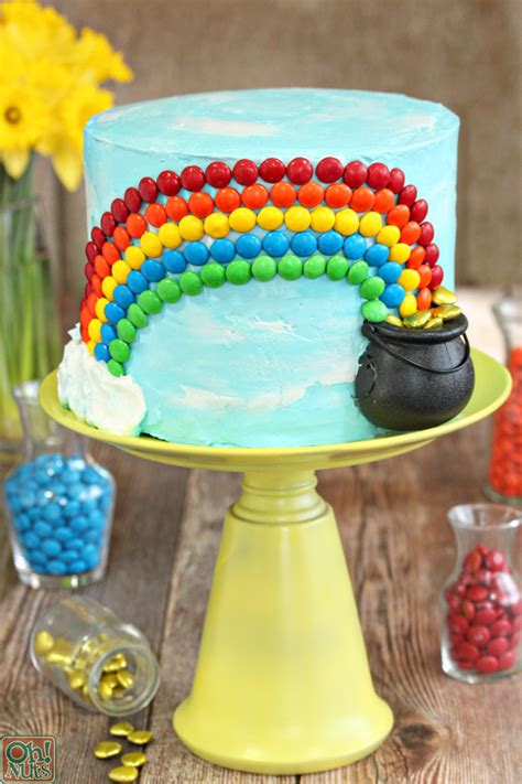 candy rainbow cake  nuts blog