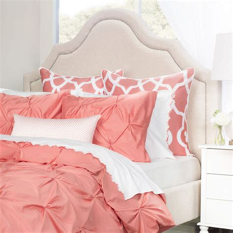 coral coverlet coral pintuck the valencia coral crane canopy