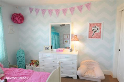 girls bedroom stencils one home three stencils and four decor projects stencil stories stencil stories