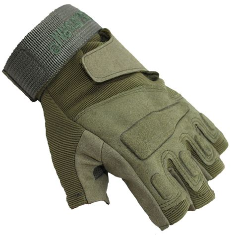 Glove Tactical Bikers Paintball Airsoft Impact Half fingerless gloves reviews shopping