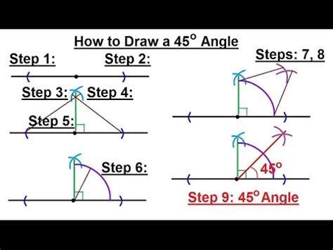 Drawing 75 Degree Angle Compass by Geometry Constructions 12 Of 15 How To Draw A 45
