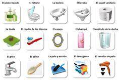 bathroom vocabulary spanish aprender espaňol learn spanish on pinterest 24 pins