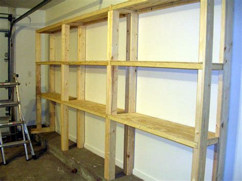 Garage Shelving Woodworking Plans Plans For Wood Garage Shelving Furnitureplans