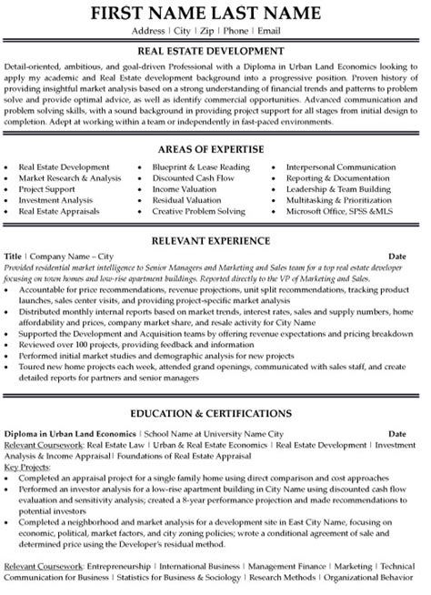 Resume Sle Of Real Estate Top Real Estate Resume Templates Sles