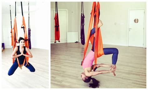 how to hang a yoga swing swing yoga in dubai at pole fit dubai