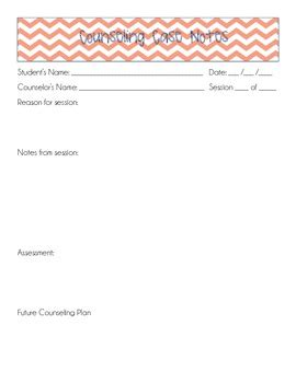 counseling case notes template by will counsel for coffee