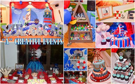themes party nautical themed party for yul oscar athena miel s balloons