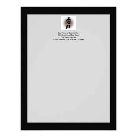 create your own custom personalized photo letterhead
